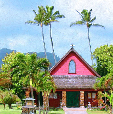 Episcopal Church In Kapaa Print by Dominic Piperata