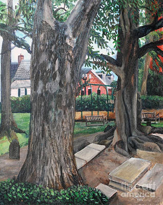 Episcopal Church Yard New Bern Art Print