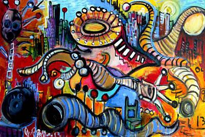 Painting - Episode Two Hundred Mg  by Jon Baldwin  Art