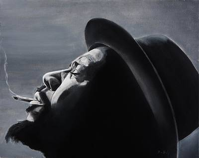 Jazz Legends Wall Art - Painting - Epistrophy by Brian Broadway
