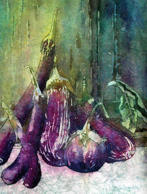 Painting - Epplant Or Aubergine by Diane Fujimoto