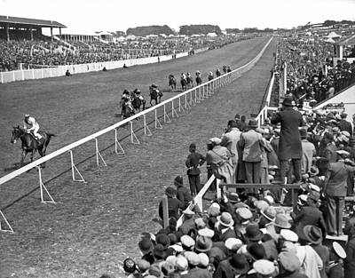 Photograph - Epsom Derby Victory by Underwood Archives
