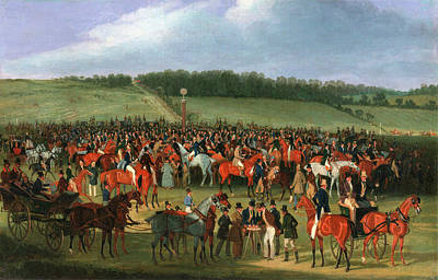 Epsom Races The Betting Post Signed And Dated Print by Litz Collection
