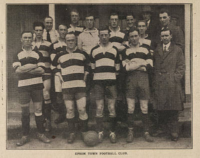 Sports Illustrated Photograph - Epsom Town Football Club. Team Photograph by British Library