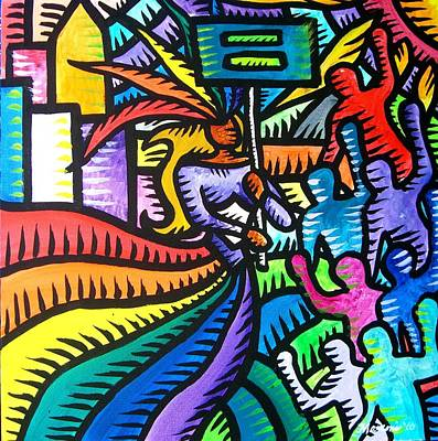 Painting - Equality March by Marconi Calindas