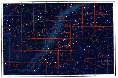Equatorial Constellations Art Print by Collection Abecasis