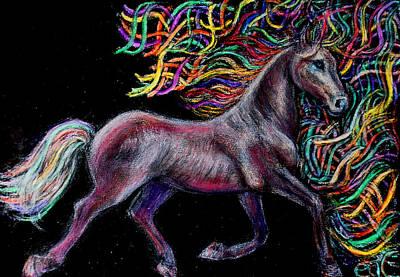 Equestrian Canter Art Print by Elizabeth Clausen