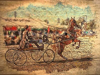 Equestrian Folklore Art Print by Ernestine Manowarda