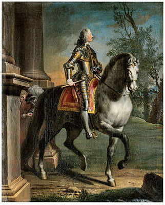 Joesph Painting - Equestrian Portrait Of King George II by Joesph Highmore
