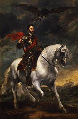 Equestrian Portrait Of The Emperor Charles V Art Print by Anthony van Dyck