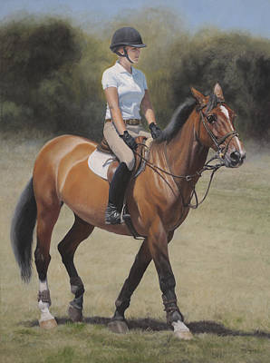 Jumper Painting - Hunter Jumper by Terry Guyer
