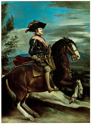 Equestrian Portriat Of King Philip Iv Of Spain Art Print by Diego Rodriguez de Silva y Velazquez
