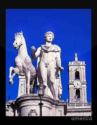 Equestrian Statue At Capitoline Hill Art Print by Stefano Senise