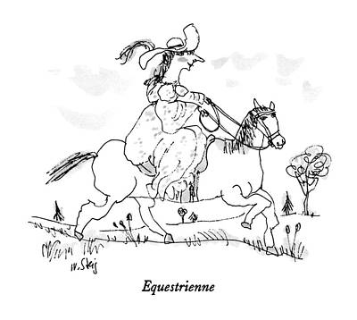 Ride Drawing - Equestrienne by William Steig