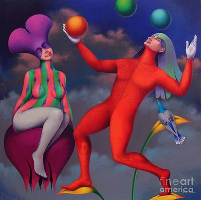 Equilibrista Art Print by Jose De la Barra