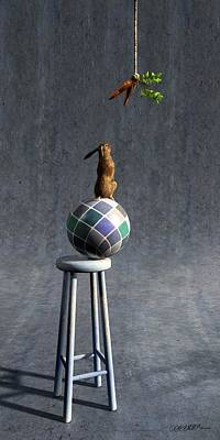 Rabbit Digital Art - Equilibrium II by Cynthia Decker