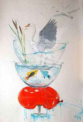 Art Print featuring the painting Equilibrium by Lazaro Hurtado