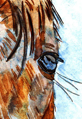 Broodmare Painting - Equine Reflection by Elizabeth Briggs