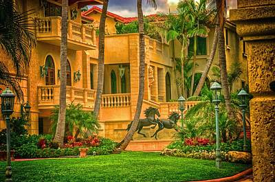 Art Print featuring the photograph Equine Villa  by Dennis Baswell