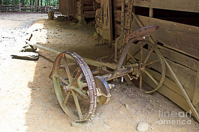 Photograph - Equipment At The Cantilever Barn by Gene Berkenbile