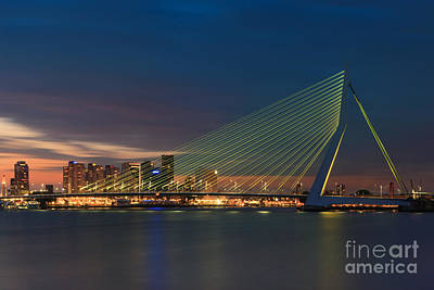 Rotterdam Photograph - An Evening In Rotterdam by Henk Meijer Photography