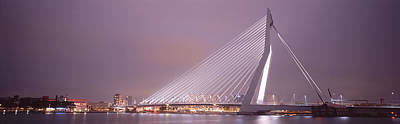 Maas Photograph - Erasmus Bridge, Rotterdam, Holland by Panoramic Images