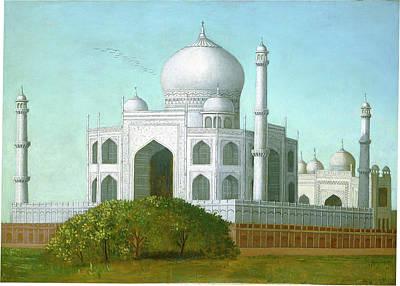 Taj Mahal Painting - Erastus Salisbury Field, The Taj Mahal, American by Quint Lox