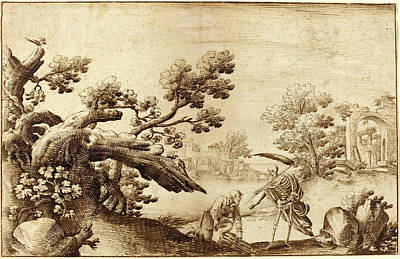 Coastal Landscape Drawing - Ercole Bazicaluva by Litz Collection