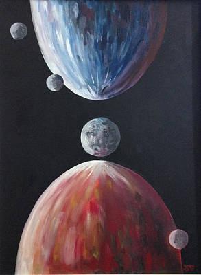 Charon Painting - Erebus' Family by Seagoat Artworx