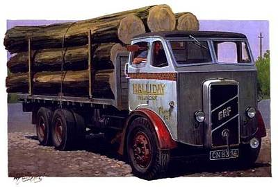 Rugby Painting - Erf Ct 561 Six-wheeler. by Mike Jeffries