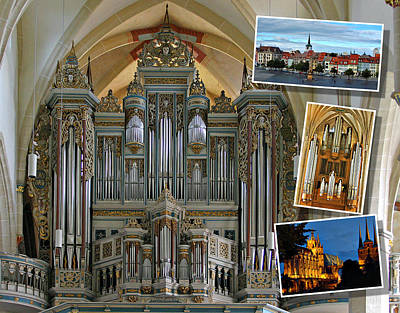 Photograph - Erfurt Organ Montage by Jenny Setchell