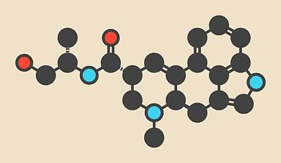 Morning Glories Photograph - Ergometrine Drug Molecule by Molekuul