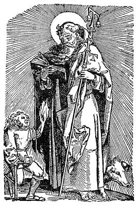 Crutch Painting - Ergotism, 1540 by Granger