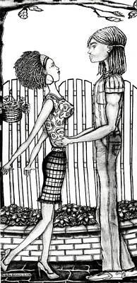 Eric And Lynnette Art Print by Karen-Lee