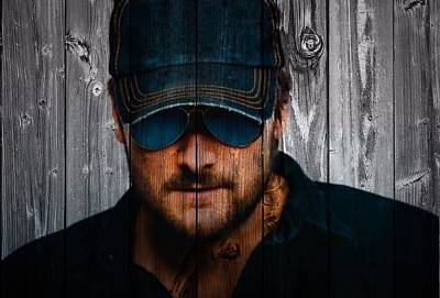 Eric Church Art Print by Dan Sproul