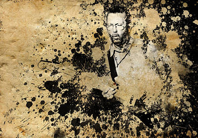 Music Legend Painting - Eric Clapton 3 by Bekim Art