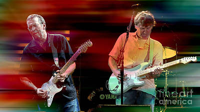 Slowhand Mixed Media - Eric Clapton And Steve Winwood by Marvin Blaine