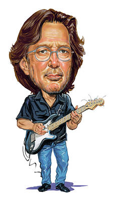 Musicians Paintings - Eric Clapton by Art