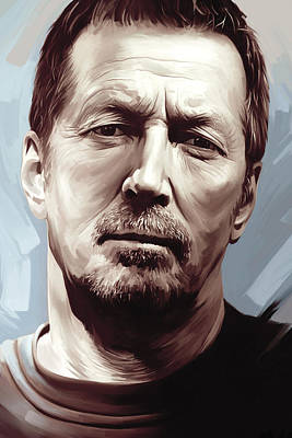 Eric Clapton Wall Art - Painting - Eric Clapton Artwork by Sheraz A