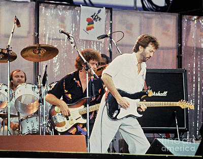 Eric Clapton Photograph - Eric Clapton Live Aid 1985 by Chuck Spang