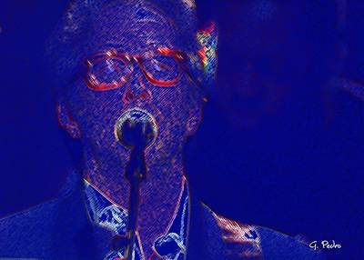 Digital Art - Eric Clapton Live by George Pedro