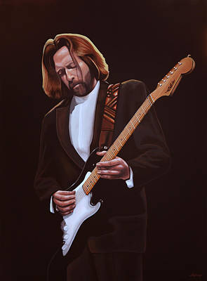 Eric Clapton Painting Print by Paul Meijering