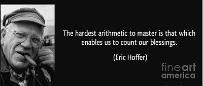 Photograph - Eric Hoffer - Quote by Roberto Prusso