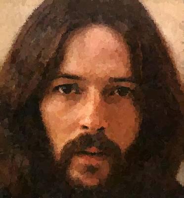 Eric Clapton Portrait Painting - Eric Patrick Clapton by Samuel Majcen
