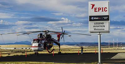 Photograph - Erickson S-64 Skycrane by Alan Marlowe