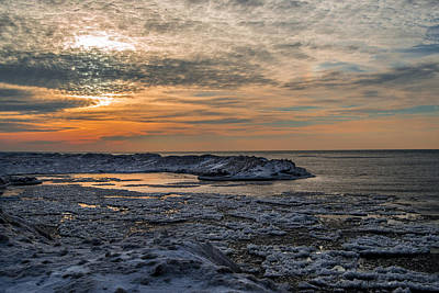 Photograph - Erie Ice Dunes by Anthony Thomas