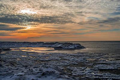 Erie Ice Dunes Art Print