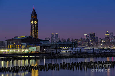 Photograph - Erie Lackawanna Terminal At Twilight by Susan Candelario