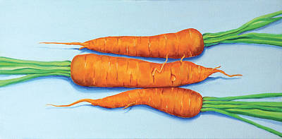 Painting - Erika's Carrots by Laura Dozor
