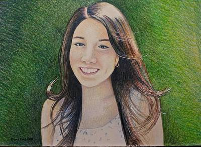 Drawing - Erika's Portrait by Tim Ernst